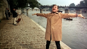 Audrey Hepburn sings and dances through Paris, France.