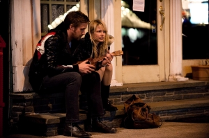 It's easier to fall in love rather to stay in love. Ryan Gosling courts Michelle Williams with his ukelele.