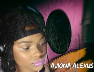 AJIONA ALEXUS in the recording studio.