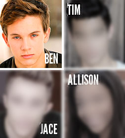 WHO ARE THE ACTORS playing Tim, Jace and Allison? We're making that announcement on Friday, November 14, when the Blue Seraph Productions newsletter is sent out with the link to our Indiegogo campaign page, where we're posting the casting news. If you don't subscribe, 550 other people will find out before you do.